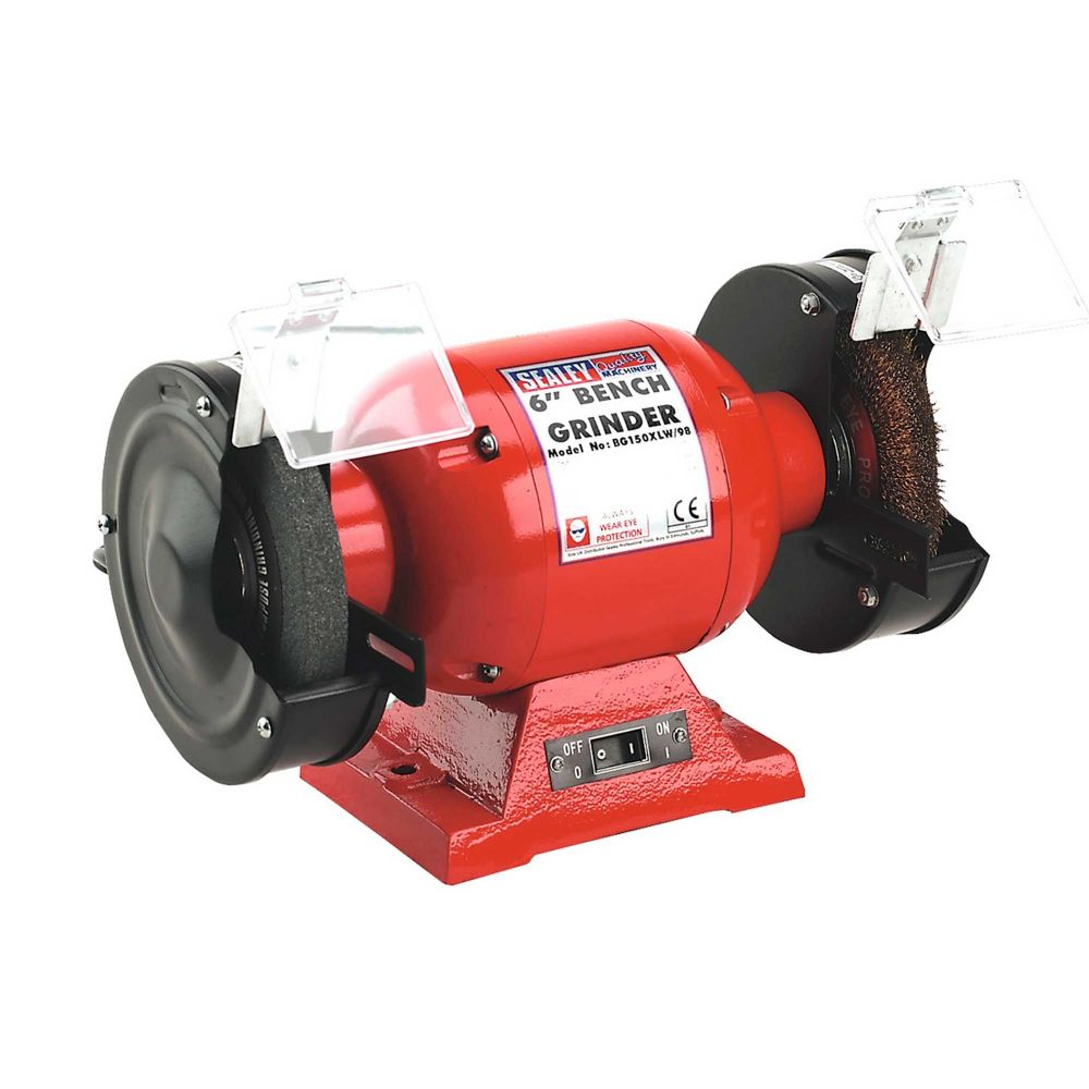 Sealey Bench Grinder 150mm with coarse stone and wire brush.